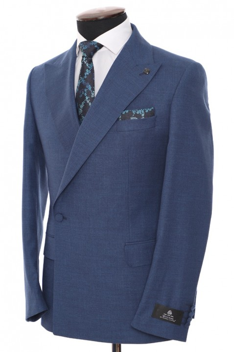 Navy blue Double Breasted Men Suit