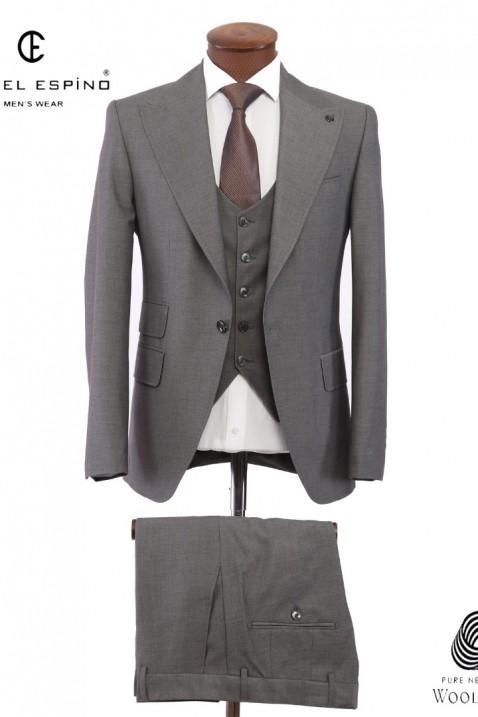 Grey Vest Men's Suit