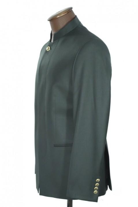Dark green high collar men's suit