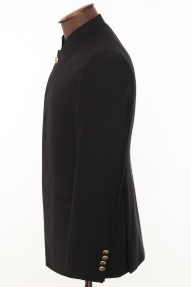 Black high collar men's suit