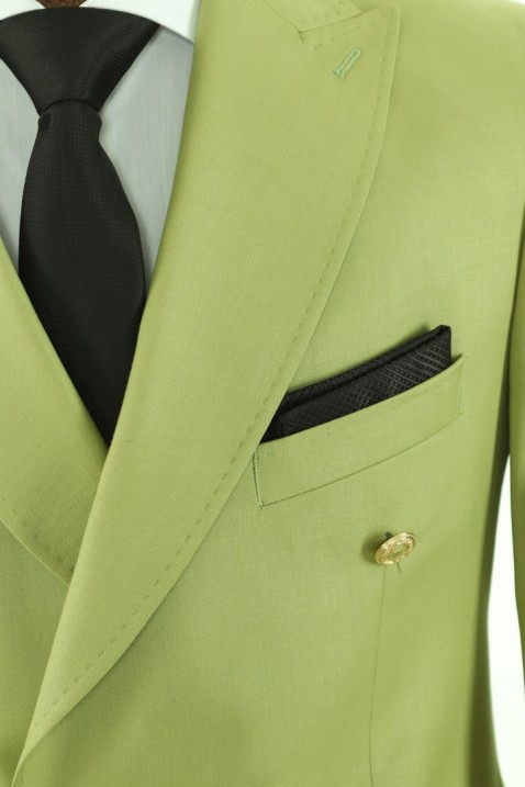 Light green Double Breasted Men Suit