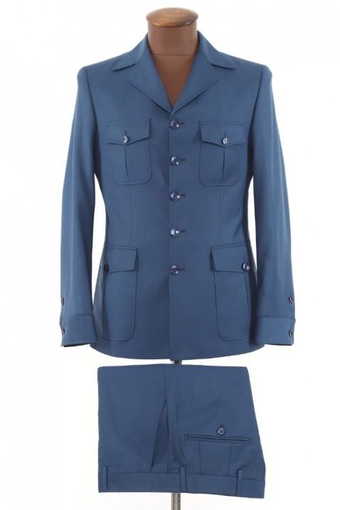 Blue Safari Men's Suit