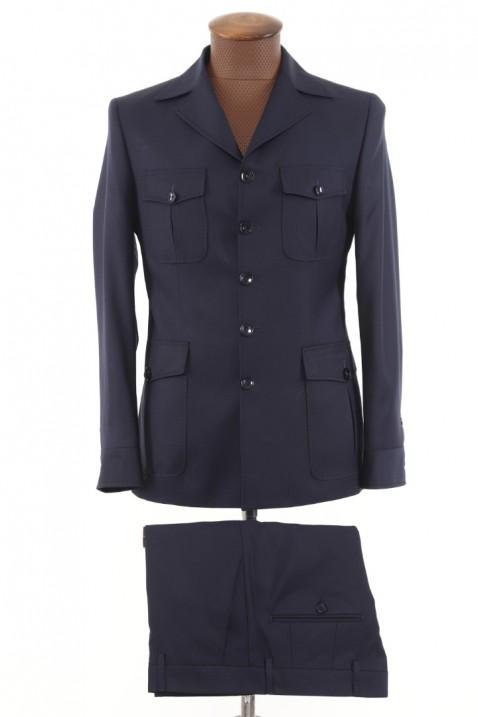 Navy blue Safari Men's Suit