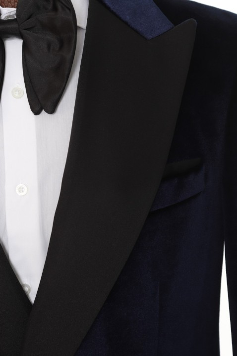 Navy blue Velvet Tuxedo Men's Suit