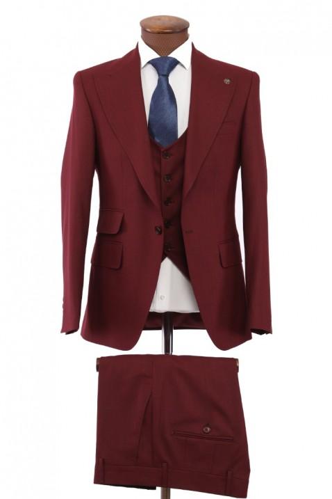 Maroon Vest Men's Suit