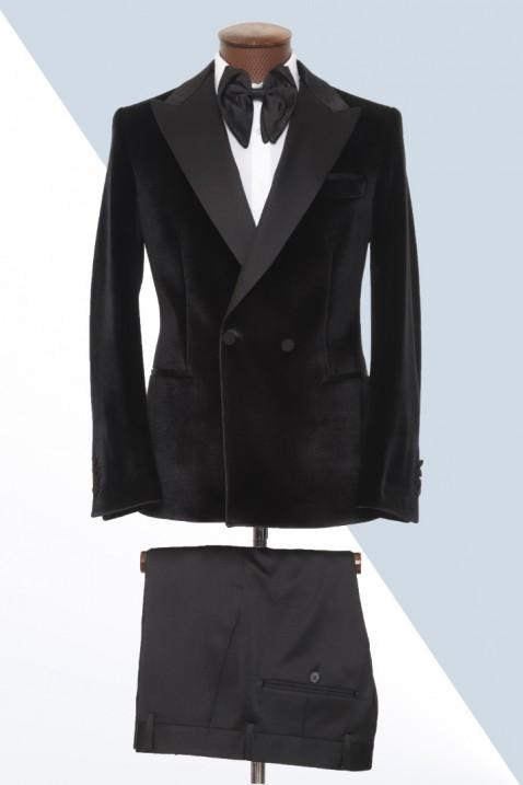Black Velvet Tuxedo Men's Suit