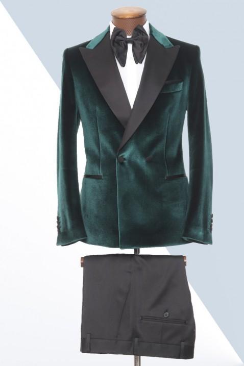 Green Velvet Tuxedo Men's Suit