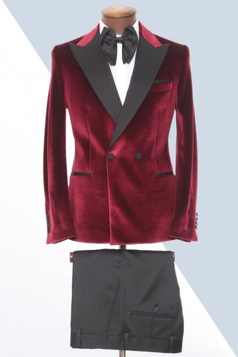 Maroon Velvet Tuxedo Men's Suit