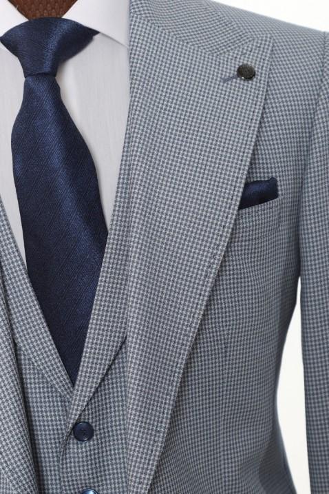 Light blue Vest Men's Suit