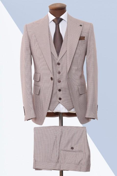 Brown Vest Men's Suit