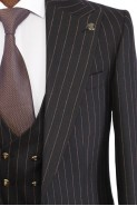 Black Suit with Bag Pockets and Waistcoat