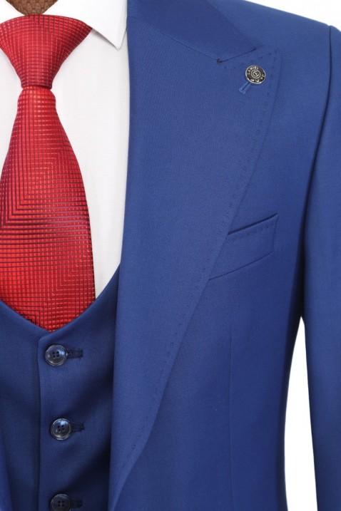 Blue Vest Men's Suit