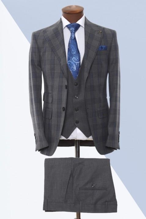 Dark grey Vest Men's Suit