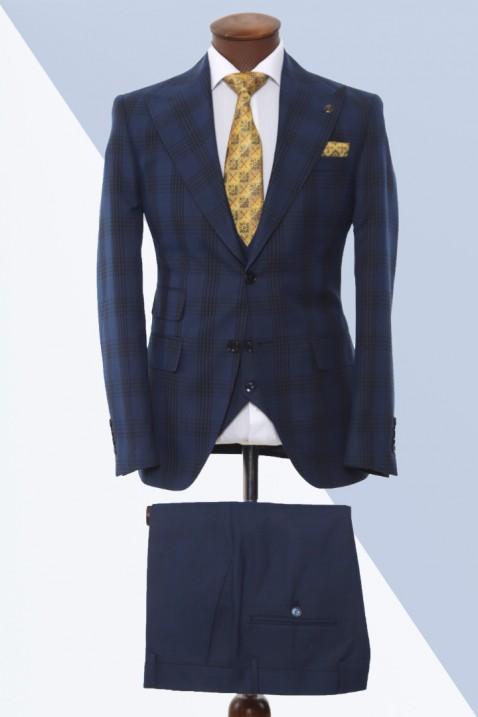 Navy blue Vest Men's Suit