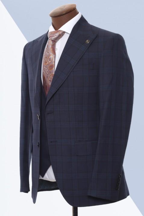 Dark Navyblue Vest Men's Suit