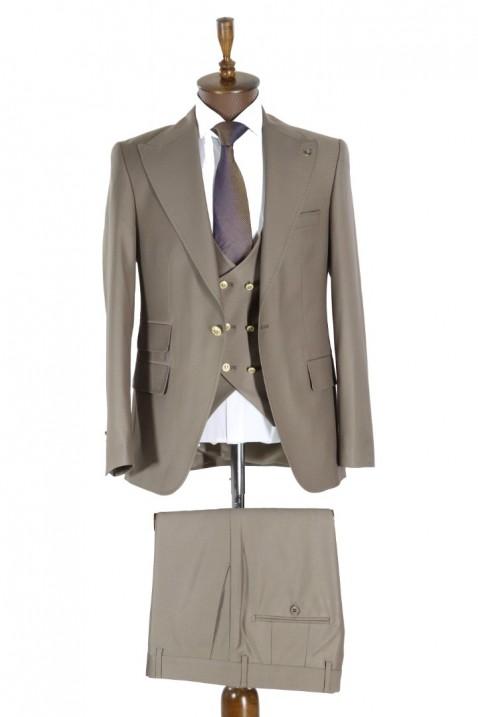 Light brown Vest Men's Suit