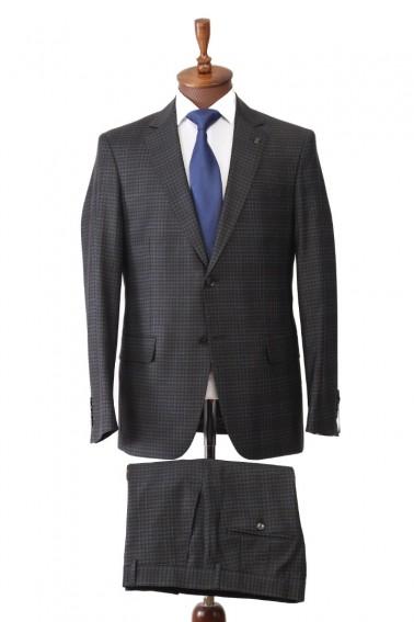 Black Plaid Men's Suit