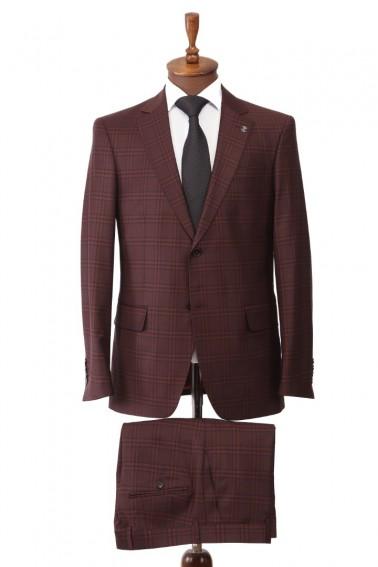 Red Plaid Men's Suit