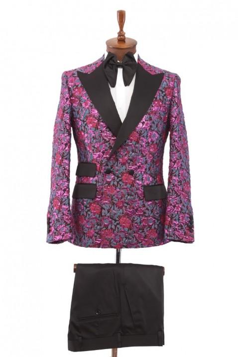 Purple Tuxedo Men's Suit