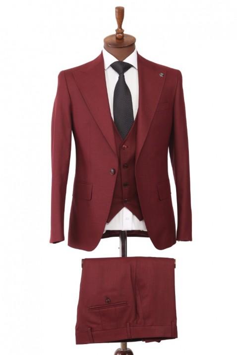 Maroon Vests Men's Suit