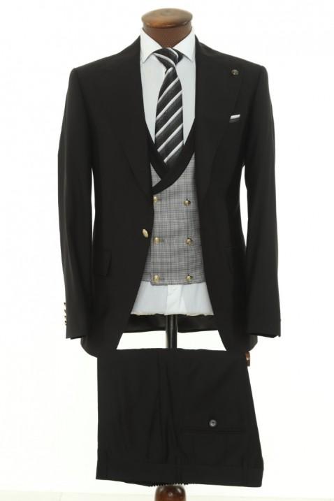 Black Vest Men's Suit
