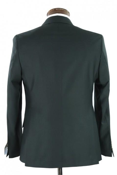 Dark green Double Breasted Men Suit