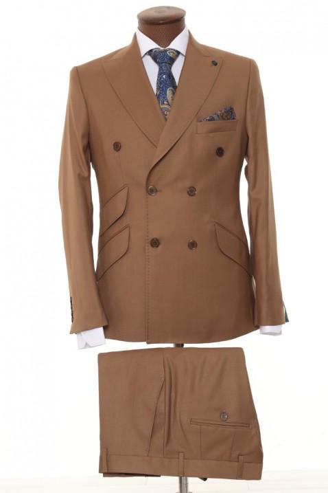 Brick color Double Breasted Men Suit