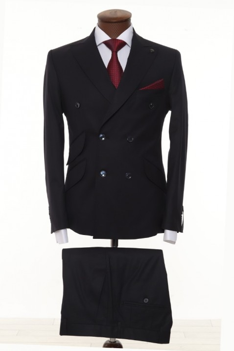 Dark Navyblue Double Breasted Men Suit